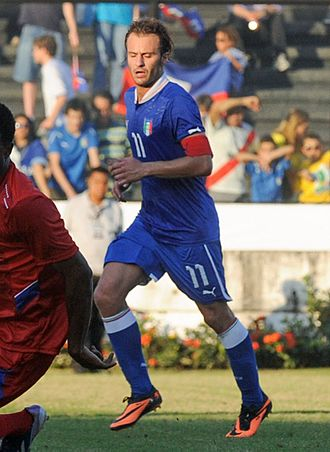Alberto Gilardino - Gilardino playing as Italy's captain in 2013 during a friendly match versus Haiti.