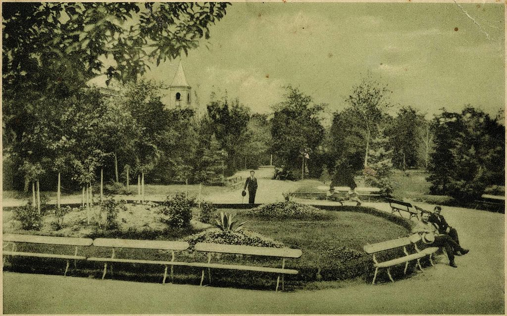 File:Izmail City Garden, Immaculate Conception Church tower, 1930s ...