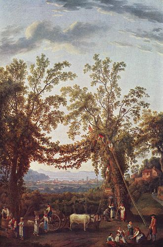 Vintage - Vintage near Sorrento, Italy, Jacob Philipp Hackert, c. 1784