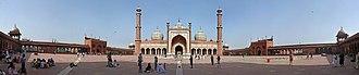 Jama Masjid, Delhi - Panorama of the square
