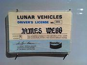 James Webb lunar drivers license
