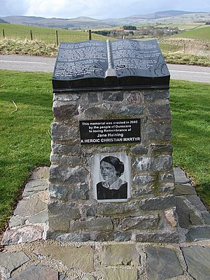 Jane Haining - The memorial in her home village