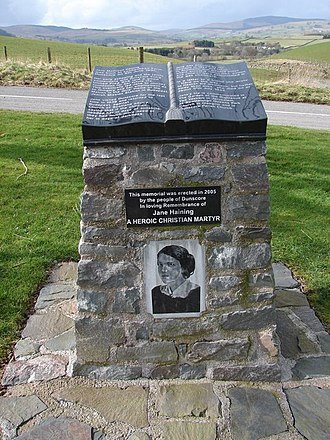 Jane Haining - Memorial in Dunscore, Haining's home village
