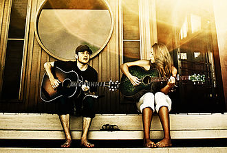 Jason Reeves (songwriter) - Jason Reeves with longtime-collaborator Colbie Caillat