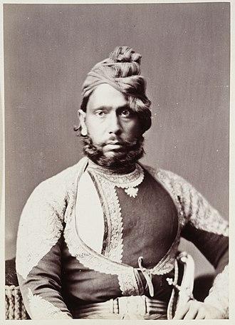 Bharatpur State - Maharaja Jashwant Singh of Bharatpore (1853–1893).