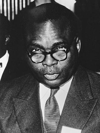 Jean Bolikango - Image: Jean Bolikango at the Belgo Congolese Round Table Conference, 1960