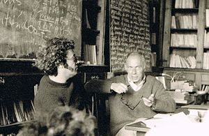 French literature - Seminar with Claude Simon, Cerisy (France). Nobel Prize 1985.