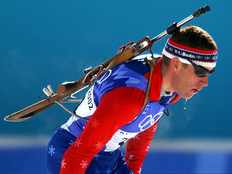 Winter sport - United States biathlete Jeremy Teela at the 2002 Winter Olympics.