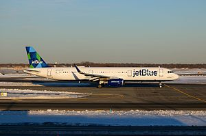JetBlue - A jetBlue Airways A321-200 at New York JFK Airport.