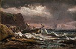 Johan Christian Dahl - Shipwreck on the Coast of Norway - Skipbrudd - KODE Art Museums and Composer Homes - BB.M.00635.jpg