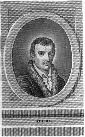 Johann Gottfried Seume - Portrait of Johann Gottfried Seume
