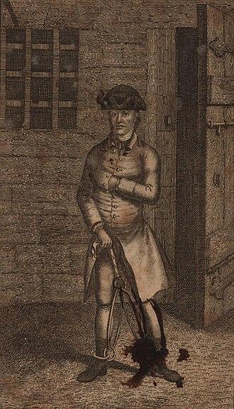 John the Painter - Portrait of Aitken in jail by W. Cave ad viv del