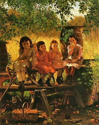 John George Brown - The Cider Mill, 1880, Terra Foundation for American Art, Daniel J. Terra Collection