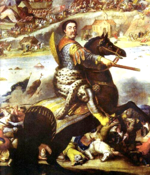 Battle of Khotyn (1673) - John Sobieski in battle of Khotyn 1673