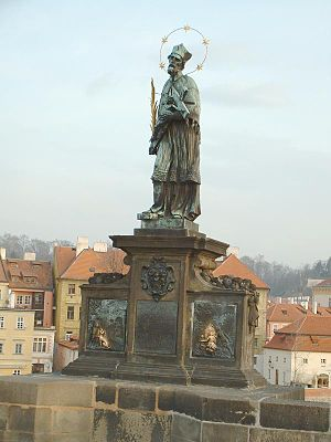 Jan Brokoff - Statue of John of Nepomuk (1683) on the Charles Bridge, Prague