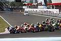 Jorge Lorenzo leads the pack 2014 Termas de Río Hondo 2.jpeg