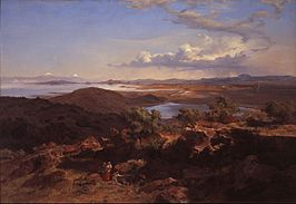 José María Velasco - The Valley of Mexico from the Santa Isabel Mountain Range - Google Art Project.jpg