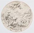 Josef Ignaz Mildorfer, Návrh výzdoby stropu pavilónu v Schönbrunnu (1752), sbírka kresby Národní galerie v Praze.jpg