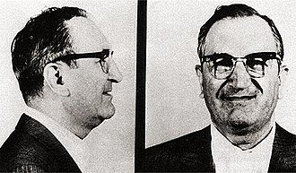 "Bonanno crime family - Mugshot of Joseph ""Joe Bananas"" Bonanno, who was boss from 1931 to 1968"