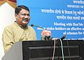 Jual Oram addressing a meeting on effective and efficient implementation mechanism of schemes of Ministry of Tribal Affairs for development of Tribals, in New Delhi on August 05, 2014.jpg