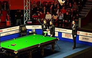 2016 European Masters - Image: Judd Trump and Ronnie O'Sullivan at 2016 European Masters