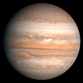 Planetary science - Cloud bands clearly visible on Jupiter.