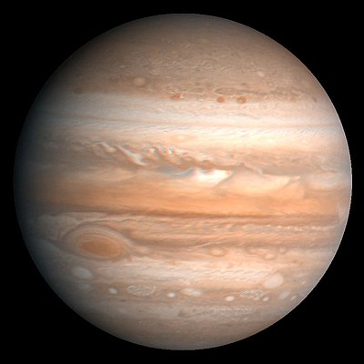 WOW!!! A 2,200 Mile Wide Spot Seen On Jupiter 400px-Jupiter