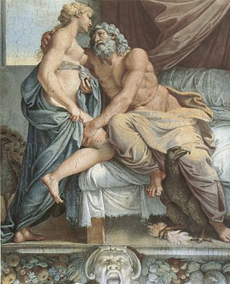 The Loves of the Gods - Jupiter and Juno - - Annibale Carracci - 1597