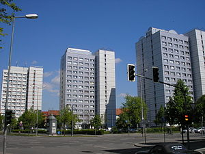 PH 16 - The first three high-rise buildings of this type at Juri-Gagarin-Ring in Erfurt