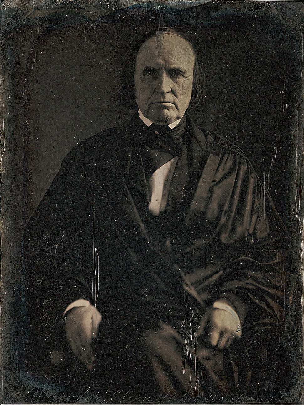 Justice John McLean daguerreotype by Mathew Brady 1849
