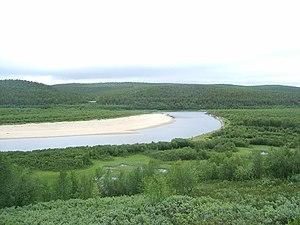 Karasjohka - View of the river