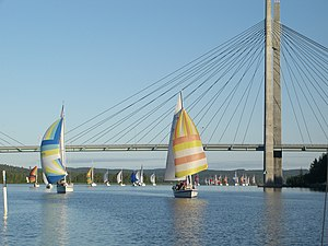 Yachting - A yacht race on lake Päijänne in Jyväskylä, Finland
