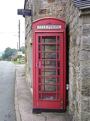 Warslow - The telephone box in Warslow