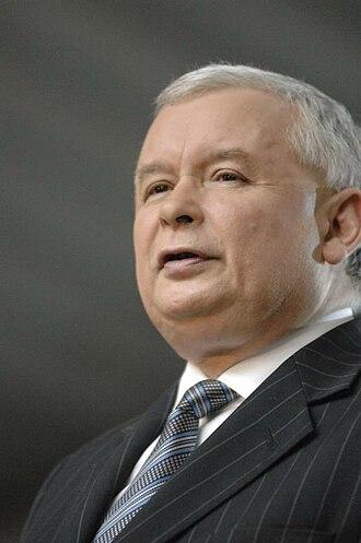 2005 Polish parliamentary election - Image: Kaczynski Jaroslaw 1 067