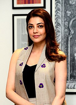 Kajal Aggarwal on the sets of Queen Kannada remake.jpg