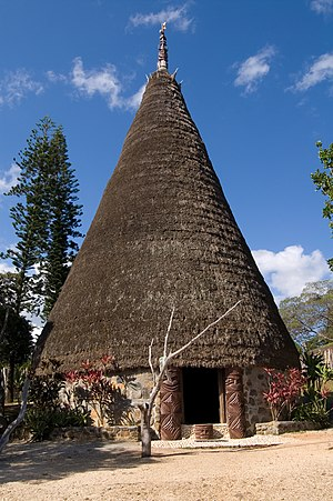 Jean-Marie Tjibaou Cultural Centre - The traditional Kanak Great House in conical shape