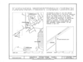 Kanapaha Presbyterian Church, Archer Road, Gainesville, Alachua County, FL HABS FL-394 (sheet 1 of 5).png