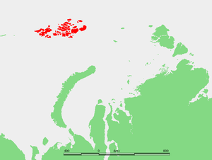 Austro-Hungarian North Pole expedition - Location of the Franz Josef Archipelago