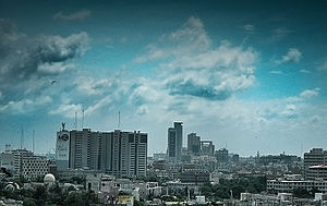 The skyline of Karachi