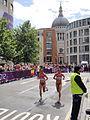 Karina Perez (Mexico) Natalia Romero (Chile) - London 2012 Women's Marathon.jpg