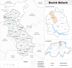 Location of Distret de Bülach