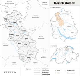 Localisation de District de Bülach