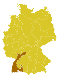 Map of the Archdiocese of Freiburg