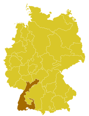 Roman Catholic Archdiocese of Freiburg - Image: Karte Erzbistum Freiburg