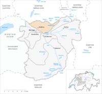 Umístění haslibergu na mapě