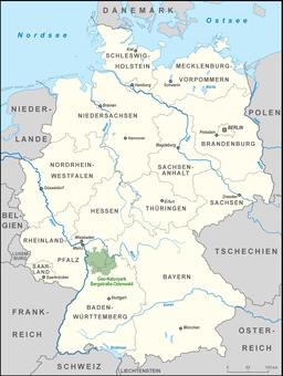 Karte Naturpark Bergstraße-Odenwald