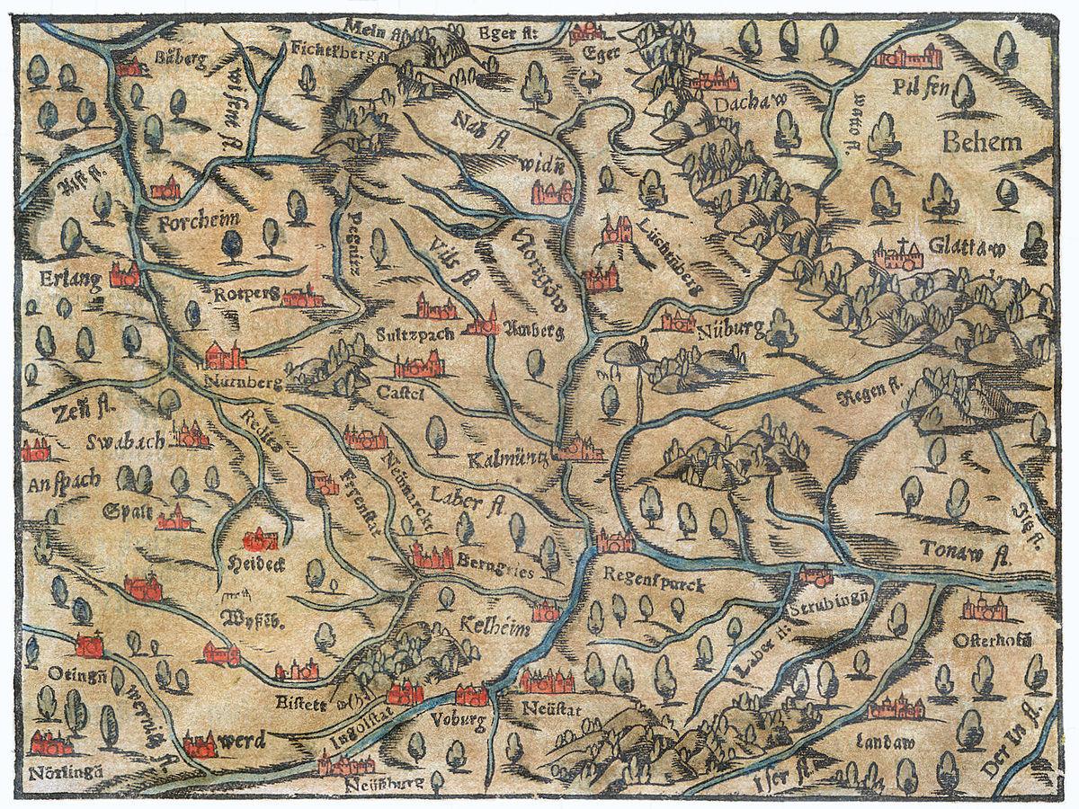 File Karte Vom Nordgau Cosmographia Sebastian Muenster 1628 Jpg