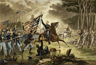 21st Regiment Massachusetts Volunteer Infantry - Image: Kearny's Charge, Battle of Chantilly