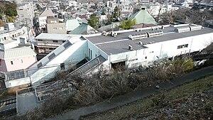 Gumyōji Station (Keikyu) - Gumyōji Station seen from nearby hill