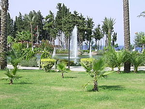 Kemer - A park in the town center